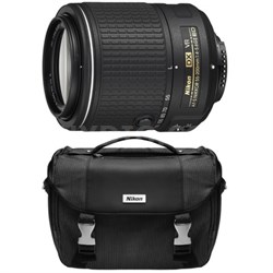 Refurbished AF-S DX NIKKOR 55-200mm f/4-5.6G ED VR II Lens with Deluxe SLR Case