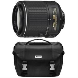 Refurbished AF-S DX NIKKOR 55-200mm f/4-5.6G ED VR II Lens with Deluxe SLR Case