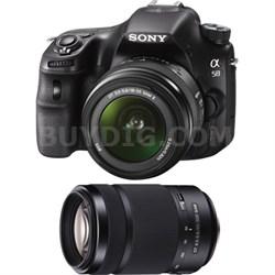 Alpha SLT-A58K 20.1 MP Digital SLR Kit w/ 18-55mm Lens + 55-300mm Lens