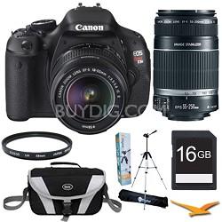 EOS Digital Rebel T3i 18MP SLR Camera 18-55mm IS + 55-250mm Ultimate Rebel Kit