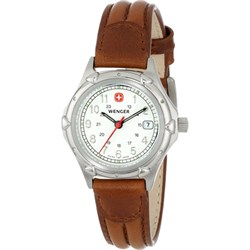 Ladies' Standard Issue Watch - White Dial/Brown Leather Strap - OPEN BOX
