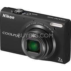 COOLPIX S6100 16MP Black Digital Camera w/ HD Video