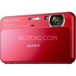 Cyber-shot DSC-T110 16.1MP Red Touchscreen Digital Camera