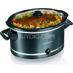 8-Quart Oval Slow Cooker - Black
