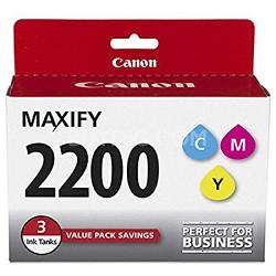 MAXIFY PGI-2200 CMY (Cyan, Magenta, Yellow) 3 Ink Value Pack