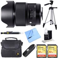 20mm F1.4 Art DG HSM Wide Angle Lens for Canon Full-frame DSLR Camera Bundle