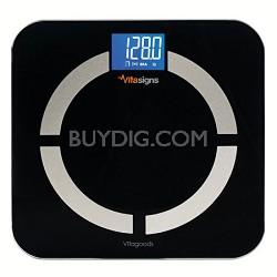 Bluetooth Digital Body Analyzer Scale, Black Glass - Black