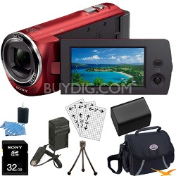 HDR-CX220/R Full HD Camcorder (Red) Ultimate Bundle