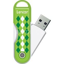 8GB JumpDrive TwistTurn USB Flash Drive - Green Argyle