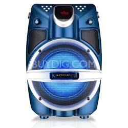 "6.5"" Powered Bluetooth PA System with Mic & LED Woofer - Blue Shaker"