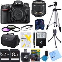 D7200 DX-Format 24.2MP Digital HD-SLR Body with 18-55mm VR Lens Bundle