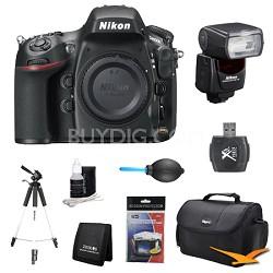 D800E 36.3 MP CMOS FX-Format Digital SLR Camera Body Plus Flash Bundle