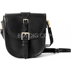 "Isaac Mizrahi ""JANE"" CROSSBODY Genuine Leather Camera & Tech Bag - Black"