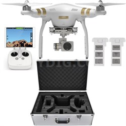 Phantom 3 Professional Drone with 4K Camera Bundle with Extra Battery and Case