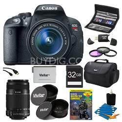 EOS Rebel T5i 18MP DSLR Camera EF-S 18-55mm & 55-250IS II All Inclusive Bundle