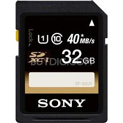 32GB SDHC/SDXC Class 10 UHS-1 R40 Memory Card (SF32UY/TQMN)