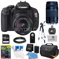 EOS Digital Rebel T3i 18MP SLR Camera 18-55mm & 75-300mm All Inclusive Bundle