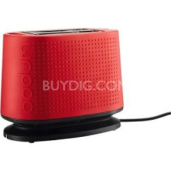 Bistro 2-Slice Toaster with Bagel and Bun Warmer (Red)