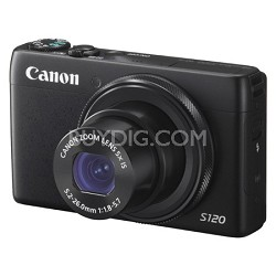 PowerShot S120 12.1MP Digital Camera - Black