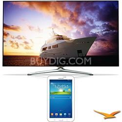 "UN46F7500 - 46"" 1080p 240hz 3D Smart Wifi LED HDTV with 7"" Galaxy Tab 3 Bundle"
