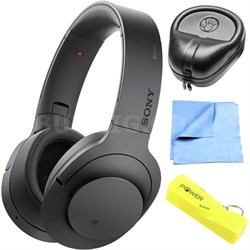 Wireless NC On-Ear Bluetooth Headphone w/ NFC Charcoal w/ Power Bank Bundle