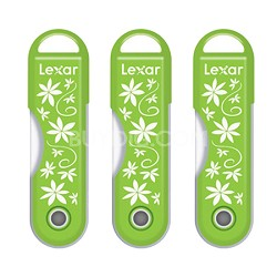 32GB Twistturn Green Flowers USB Flash Memory Drive 3 Pack Bundle