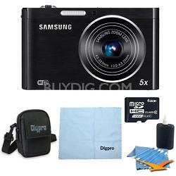 DV300F 16 MP 5X Zoom Wi-Fi Dual View Digital Camera (Black) Bundle Deal