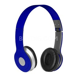 Foldable Over-the-head Headsets with Built-in-mic in Blue