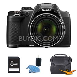 COOLPIX P530 16.1MP 42x Opt Zoom HD 1080p Digital Camera Black Kit