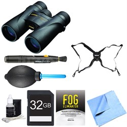 7577 Monarch 5 Binoculars 10x42 Adventure Bundle