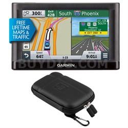 nuvi 55LMT GPS Navigation System with Lifetime Maps & Traffic Case Bundle