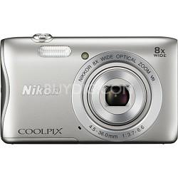 COOLPIX S3700 20.1MP 720p HD Video Digital Camera - Silver