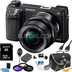 Alpha NEX-6 Digital Camera with 16-50mm Lens (Black) Ultimate Bundle