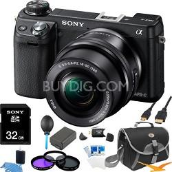 Alpha NEX-6 Digital Camera with 16-50mm Lens (Black) Ultimate Bundle