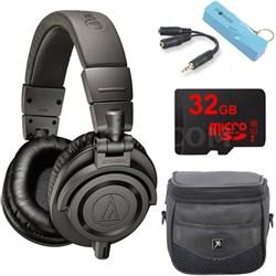 ATH-M50xMG Limited Edition Professional Studio Monitor Headphones Power Bundle