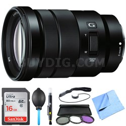 SELP18105G - E PZ 18-105mm f/4 G OSS Power Zoom Lens Bundle
