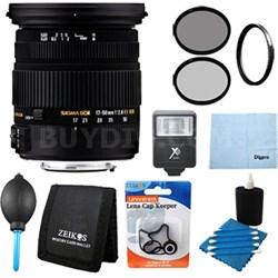 17-50mm f/2.8 EX DC OS HSM FLD Standard Zoom Lens Canon EOS DSLR Flash Kit