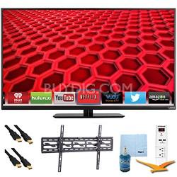 """42"""" 1080p 120Hz LED Smart HDTV Plus Tilt Mount & Hook-Up Bundle (E420i-B0)"""