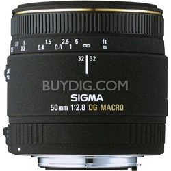 50MM F2.8 EX DG Macro Nikon Lens (Factory Refurbished)