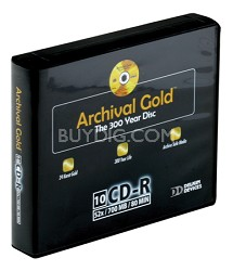 Archival Gold Retail Hard Case Binder w/10 CD Sleeves (10 Discs)
