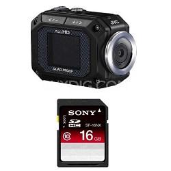 GC-XA1BUS - ADIXXION Action Camcorder with 16GB Memory Card