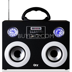 CS-215 Silver Portable Multimedia Speaker with FM Radio