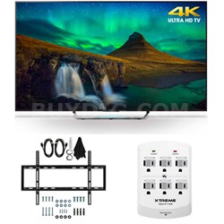 XBR-55X850C - 55-Inch 3D 4K Ultra HD Smart LED HDTV Slim Flat Wall Mount Bundle