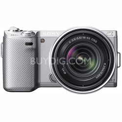 NEX-5N 16 Megapixel Compact Interchangeable Lens Camera w/ 18-55mm Lens (Silver)