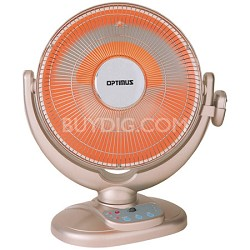 """14"""" Oscil Dish Heater with Remote Control"""