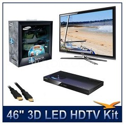 "UN46C7000 - 46"" 3D 1080p 240Hz LED HDTV Kit w/ 3D Glasses & Blu-Ray Player"