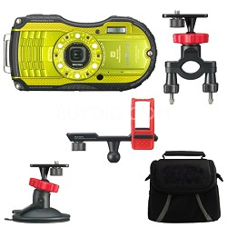 WG-4 16MP HD 1080p Waterproof Digital Camera Action Pack- Lime Yellow