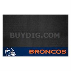 NFL Denver Broncos Vinyl Heavy Duty Grill Mat