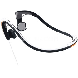 Open-Ear Bone Conduction Headphones with Reflective Design, White