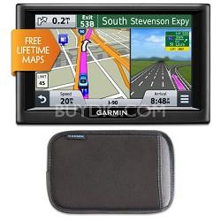 "nuvi 57LM 5"" Essential Series 2015 GPS with Lifetime Maps Case Bundle"